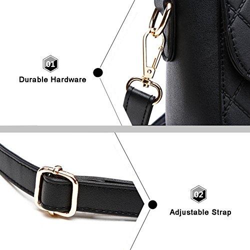 Yoome frizione con le borse di Tote Diaper per le donne Borse eleganti per il portafoglio di borsa delle signore di fascino - Bianco Nero