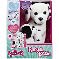Vivid Imaginations Animagic – Ruby & Lottie – Maman Chiot Dalmatien – Peluches Interactives