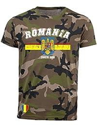 aprom T-Shirt Rumänien Romania Camouflage Army NC D03