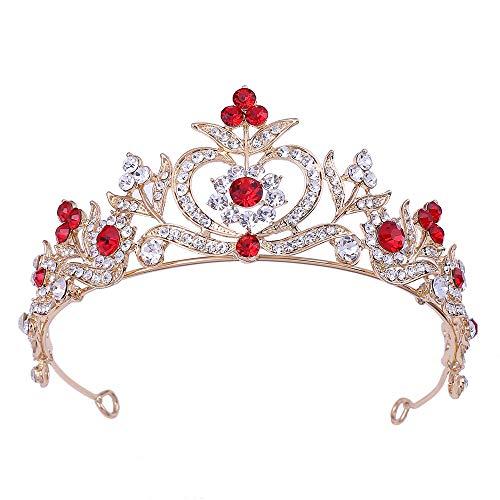 TaoggHG Braut Krone Königliche Hochzeit - Kopfschmuck Haar - Prinzessin Königin Krone - Dekorative Schmuck - Kristall Wasser Diamant Hairpin Hairring B - Krone Juwel Der Auf