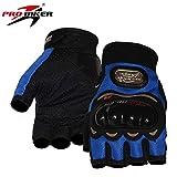 SunFlower pro-Biker Fahrrad kurz Sport Leder Motorrad POWERSPORTS Racing Handschuhe, BU, XL