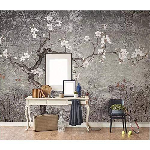 Dalxsh carta da parati personalizzata con foto murale nuova mano cinese fiore e uccelli soggiorno carta da parati 3d vintage plum background-350x250cm
