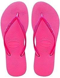 Havaianas Slim Mädchen Zehentrenner,Rosa(Pink 0703), 33/34 EU (31/32 Brazilian)