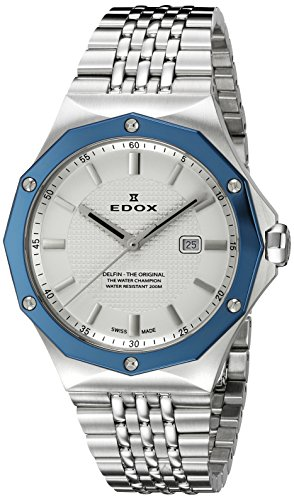 Edox Women's 54004 3BUM AIN Delfin Analog Display Swiss Quartz Silver Watch