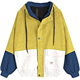 Hannea Color Block Hooded Corduroy Jacket