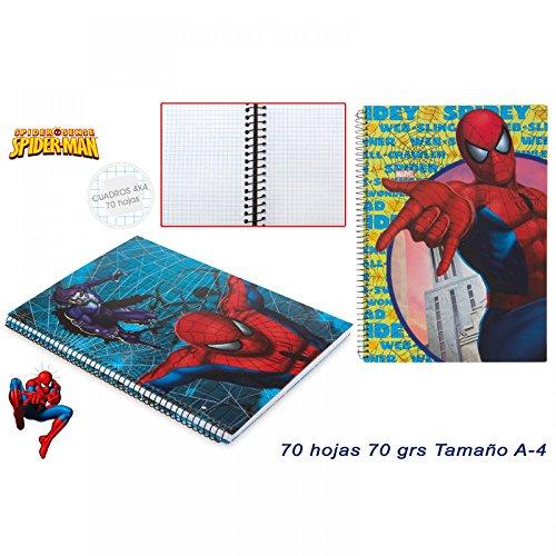Spiderman Notizbuch A4–4mm kariert Graph Papiere Note Buch (sortiert)