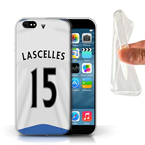 Offiziell Newcastle United FC Hülle / Gel TPU Case für Apple iPhone 6S / Pack 29pcs Muster / NUFC Trikot Home 15/16 Kollektion Lascelles
