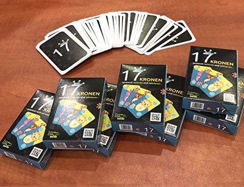 DeKroKo 17 Kronen - schnelles und lustiges Kartenspiel mit Lerneffekt rund ums Zählen und Rechnen- für Mathefüchse und Mathemuffel (Krone-kartenspiel)