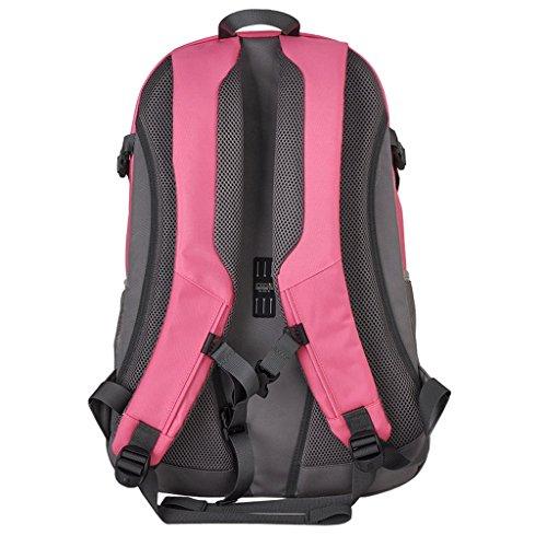 XSY 30L Borsa Unisex Zaino per Outdoor Sport Escursionismo Alpinismo Campeggio Zaini Blu Grigio Rosa