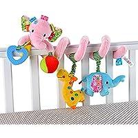HOSIM Elephant bambino infantile attività Wrap spirale intorno Culla carrozzina Bed culla Stroller Toy ferrovia (colore rosa)