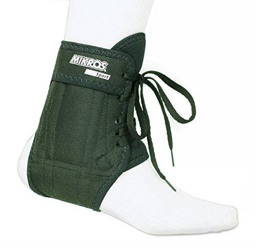 MIKROS Fußgelenkbandage  106-Textil Sport, schwarz, Größe L (Schuhgröße 44-45)