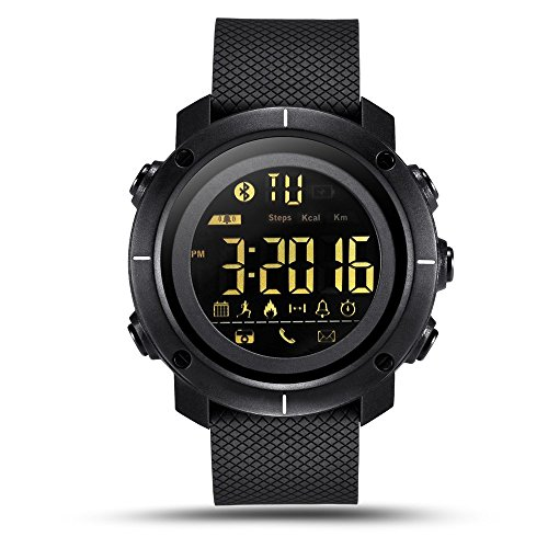 - 51lLoUoAMjL - LEMFO LF19 Digital Mens Smart Watch IP68 Waterproof 5ATM Call SMS Notification Sport Smartwatch with LED Backlight
