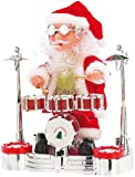infactory Nikolaus Schlagzeug: Singender Schlagzeuger-Weihnachtsmann mit LED-Lichtershow (Trommelnder Weihnachtsmann)