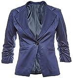 Eleganter Cord Damen Blazer Cordjacke Jäckchen Business Freizeit Party Jacke in mehreren Farben