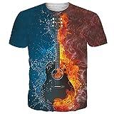Idgreatim Donna T Shirt Babbo Xmas 3D Stampato Estate Casual Manica Corta T-Shirt Tees