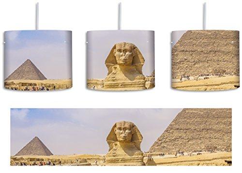 Große Sphinx (Große Sphinx von Gizeh inkl. Lampenfassung E27, Lampe mit Motivdruck, tolle Deckenlampe, Hängelampe, Pendelleuchte - Durchmesser 30cm - Dekoration mit Licht ideal für Wohnzimmer, Kinderzimmer, Schlafzimmer)