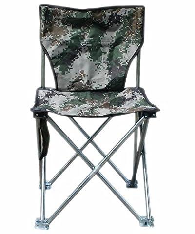 Linshe Chaise de camping/pêche/chaise pliante/solide/Heavy pratique et robuste 36* 36* 55cm