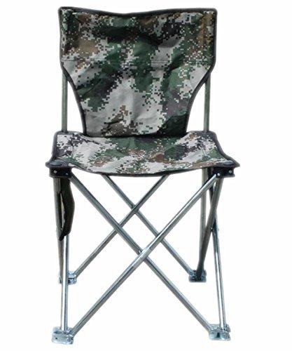Linshe Campingstuhl / Klappstuhl / Anglerstuhl / Faltstuhl in Camouflage / Gartenstuhl Praktisch & Robust 36*36*55 cm