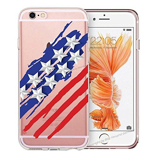 Blitz® BANANA motifs housse de protection transparent TPE caricature bande iPhone Stars & Stripes M16 iPhone 8sPLUS Stars & Stripes M16