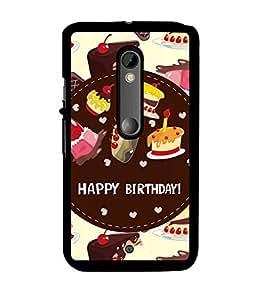 Fuson 2D Printed Birthday Designer back case cover for Motorola Moto X Play - D4312