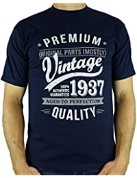 1937 Vintage Year - Aged To Perfection - 80 Ans Anniversaire T-Shirt pour Homme