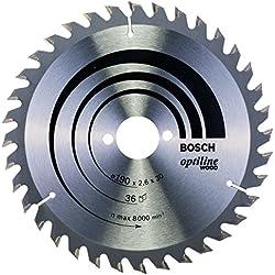 Bosch Professional Bosch 2608640616 Lame de scie circulaire Optiline Wood 190 x 30 x 2,6 mm, 36, 1 pièce, Gris