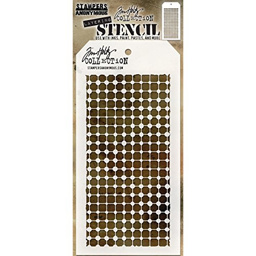 Art Gone Wild Tim Holtz Grid Dot Schablone, transparent - Tim Holtz Dots