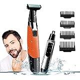 A-TION Rasierer Herren Elektrisch, Elektrischer Rasierer Bartschneider Kabellos Wiederaufladbare USB, Haarschneidemaschine mit 4 Aufsatzkämmen