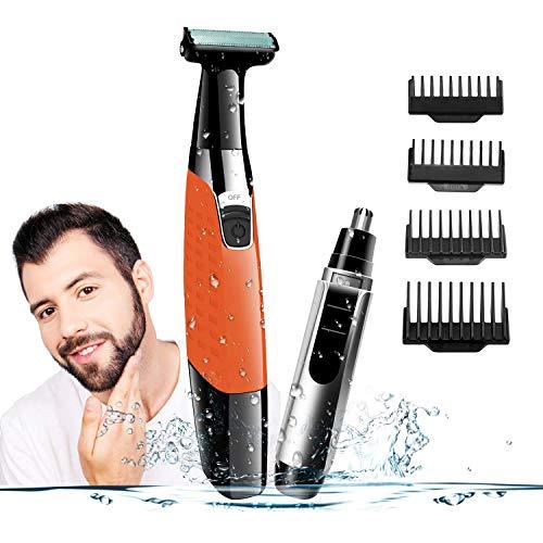 A-TION Afeitadora Barba Mojado Seco Afeitadora Electrica