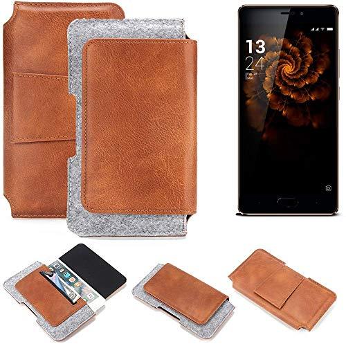 K-S-Trade Gürteltasche für Allview X3 Soul Pro Gürtel Tasche Schutz Hülle Hüfttasche Belt Case Schutzhülle Handy Hülle Smartphone Sleeve aus Filz + Kunstleder (1 St.)