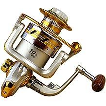 fenguh 10BB Carrete de Pesca de Spinning Cojientes de Bolas de Agua Salada Rodamiento / Mar de Agua Dulce Carrete Pesca Ball Bearings Spinning Reel 5.5: 1 EF2000--EF2000