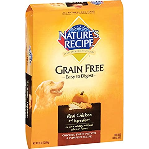 Nature's Recipe Large Breed Grain Free Easy to Digest Chicken, Sweet Potato & Pumpkin Recipe Dry Dog Food, 24-Pound by Nature's Recipe