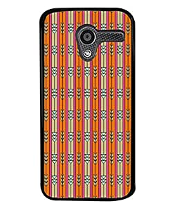 PrintVisa Straight Lined Down Arrow High Gloss Designer Back Case Cover for Motorola Moto X :: Motorola Moto X (1st Gen) XT1052 XT1058 XT1053 XT1056 XT1060 XT1055