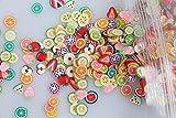 AiCheaX 1000 pezzi 3D 5mm Mix Design Serie carina Cuore Stella Nastro Fiore Nail Art Fimo Fette Adesivi per unghie affettanti AiCheaX (Colore: grigio)