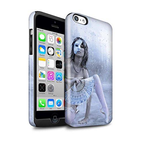 Officiel Elena Dudina Coque / Brillant Robuste Antichoc Etui pour Apple iPhone 5C / Balançoire Jardin Design / Un avec la Nature Collection Masque d'Hiver
