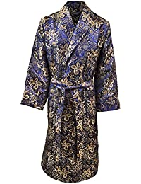 Lloyd Attree & Smith - Robe de Chambre en Viscose - Paisley Bleu - Homme