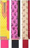Nagpur Store Women's Cotton Unstitched Salwar Suit, Set of 3 (KS-74, Yellow/Pink, Purple/Black, Cream/red)