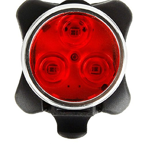 Zantec Lumières de vélo rechargeables d'USB LED, 3 phares de vélo / feu arrière de LED, 4 modes légers, 160lm, résistant à l'eau, lumière de bicyclette avant / arrière s'adapte à tous les vélos, vélo de route