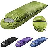 Adtrek Hood 250 - Einzelschlafsack für 2 Jahreszeiten - rechteckig - Grün