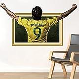 JUNMAONO Fußballstar Wandaufkleber/Wandbilder/abnehmbare Wandbild Aufkleber/Wandgemälde/Wand Poster/Wandbilder/Wandtattoo