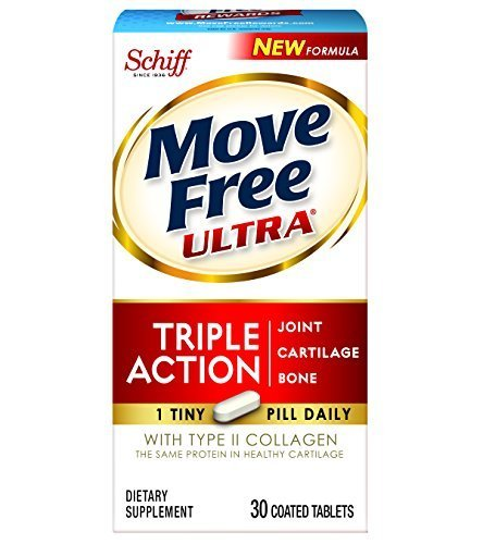 Move Free Ultra Triple Action Joint Supplement with Type II Collagen, Hyaluronic Acid, and Boron for Joint, Cartilage, and Bone Support by Move Free