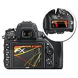 atFoliX Folie für Nikon D750 Displayschutzfolie - 3er Set FX-Antireflex-HD hochauflösende entspiegelnde Schutzfolie
