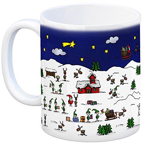 Bergen (Kreis Celle) Weihnachten Kaffeebecher mit winterlichen Weihnachtsgrüßen - Tasse, Weihnachtsmarkt, Weihnachten, Rentier, Geschenkidee, Geschenk - 2