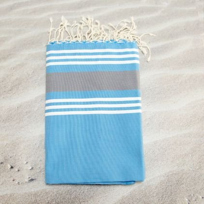 bbqplus Trinidad blau 2–100% Baumwolle Handtuch Fouta Hammam, 100cm x 200cm, wahrscheinlich das vielseitigste Handtuch, die Sie jemals kaufen für sich selbst oder ein Geschenk macht. Ideal für den Strand, Bad, Schwimmen Handtuch + mehr.