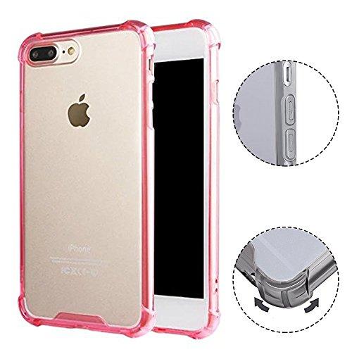 iPhone 7 Plus Hülle TPU Case, AVIDET Ultra Slim TPU Case für iPhone 7 Plus Schutzhülle (Rot) Rot
