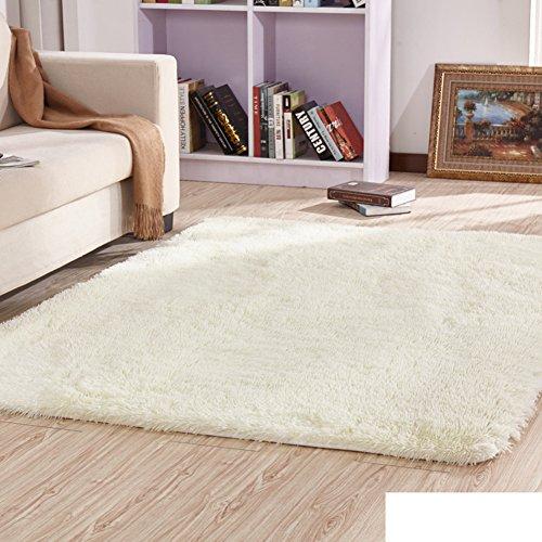 KELE Dicker seide und wolle teppiche Sofa wohnzimmer zimmer teppich Schlafzimmer decke für schlafzimmer-F 120x160cm(47x63inch) (Wolle Teppich Shag)