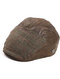 Dasmarca Boinas Aston taxista Newspaper Boy Bakerboy Winter Tweed de lana Gorra de Cuero