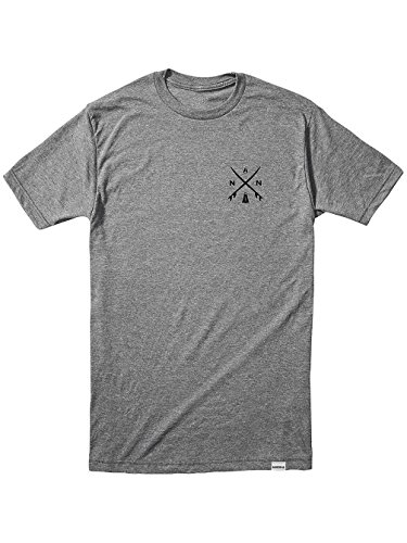 Herren T-Shirt Nixon Axial T-Shirt Dark Heather Gray