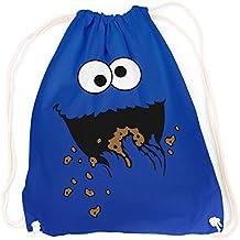 vanverden sport turnbeutel krumelmonster cookie monster karneval fasching farbe bright royal blau