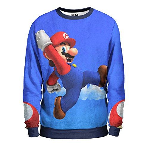 SUPER MARIO BROS UP Sweatshirt Man - Felpa Uomo - Nintendo Retrogame, Gameboy Console Retrogame, Mario e Luigi T-Shirt